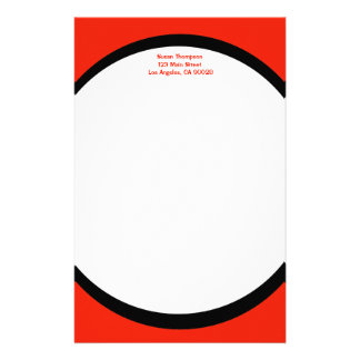 color orange personalized stationery