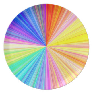 Color Shade Wheel - Rainbow Extreme Party Plate