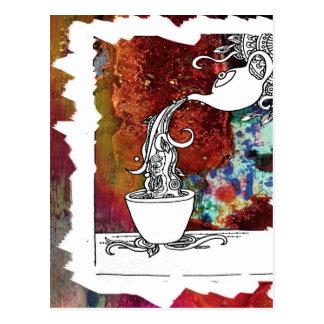 Color Splash Tea! Pour me a Magical Cup of Tea! Postcard