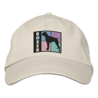 Color Squares Boxer Embroidered Hat