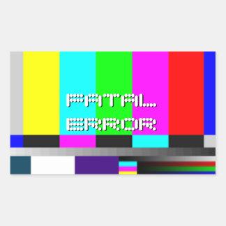 Color Test - Fatal Error Rectangular Sticker