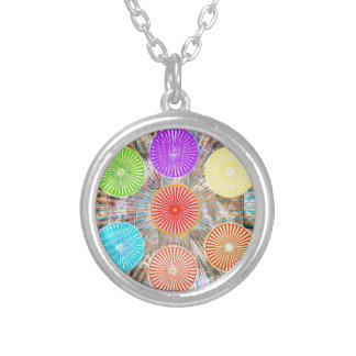 Color Therapy Graphics : Healing Energy Chakra Round Pendant Necklace