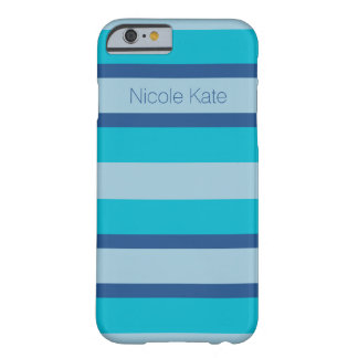 Color Trend Blue Monogram Barely There iPhone 6 Case
