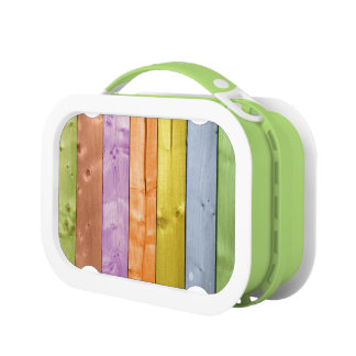 Color Washed Wood Planks Lunch Box