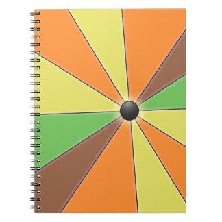 Color Wheel orange Spiral Note Books