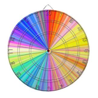 Color Wheel Sparkle Wave Dartboard