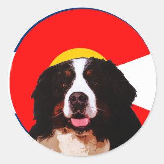 Colorado Bernese Mountain Dog Classic Round Sticker
