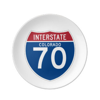 Colorado CO I-70 Interstate Highway Shield - Plate