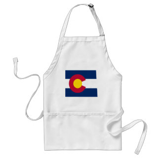 Colorado Flag Map Standard Apron
