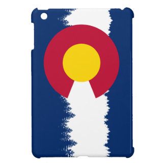 Colorado Flag Treeline Silhouette Cover For The iPad Mini