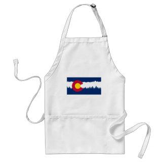 Colorado Flag Treeline Silhouette Standard Apron