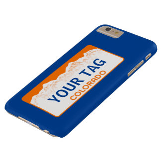 Colorado License Plate - Team Colors Barely There iPhone 6 Plus Case