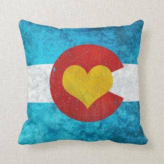 Colorado Love Pillow Grunge
