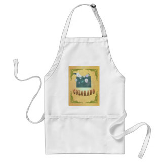 Colorado Map With Lovely Birds Standard Apron