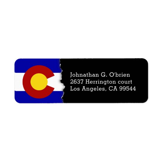 Colorado State Flag Personalised