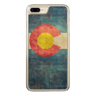 Colorado State flag with vintage retro grungy look Carved iPhone 8 Plus/7 Plus Case
