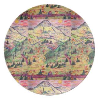 colorado town plate