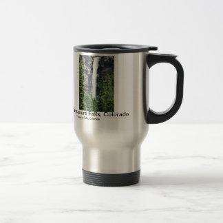 Colorado waterfall travel mug.