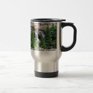 Colorado waterfall travel mug. stainless steel travel mug
