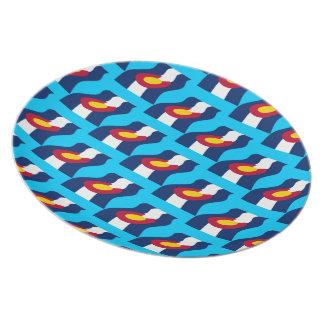 Colorado Waving Flag Plate