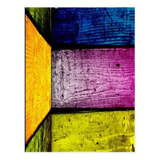 colored bamboo postcard