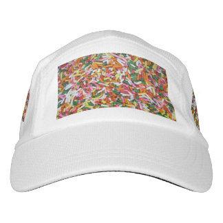 colored Candy sprinkes Texture Template Hat