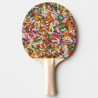 colored Candy sprinkes Texture Template Ping Pong Paddle