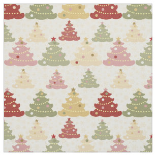 Colored Christmas tree Fabric