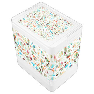 Colored Dots & Circles + your background color Chilly Bin