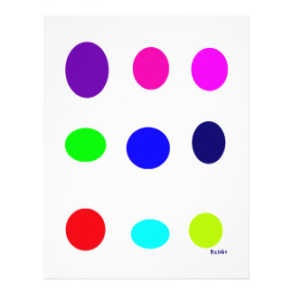 Colored Eggs Flyer Design
