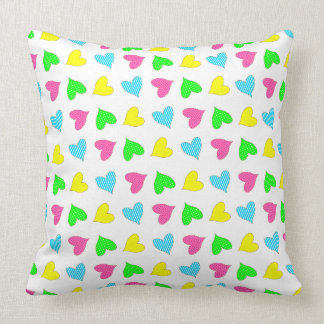Colored Hearts Cushions