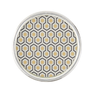 Colored Honeycomb Grid Pattern Lapel Pin
