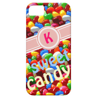 colored jelly beans candy initial case for the iPhone 5