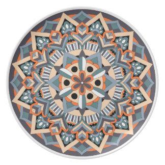 Colored Mandala 060517_3 Plate