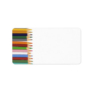 Colored Pencils Address Labels