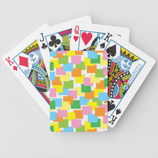 Colored Rectangles Design Playing Cards