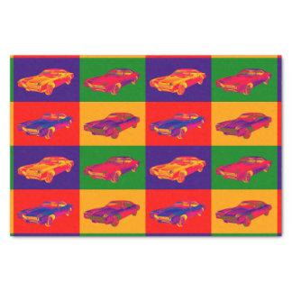 Colorful 1967 Buick Riviera Car Pop Art Tissue Paper
