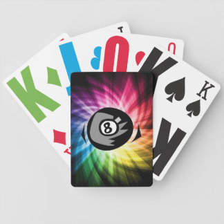 Colorful 8 ball bicycle playing cards