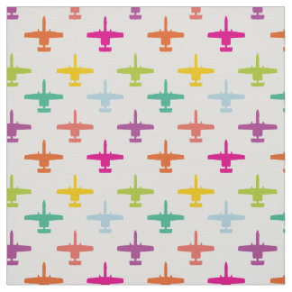 Colorful A-10 Warthog Attack Jet Pattern Candy Fabric