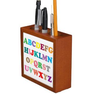 Colorful ABC's letters Desk Organiser