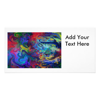 Colorful Abstract Art Photo Greeting Card