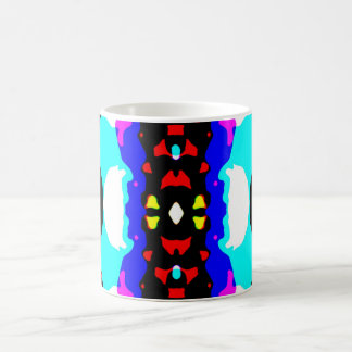 Colorful Abstract Cyan Black Pink Yellow Red Coffee Mug