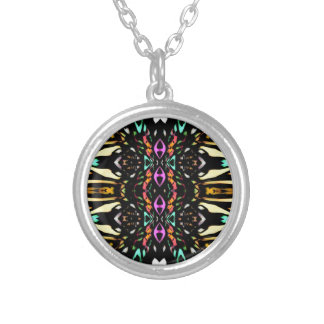 Colorful Abstract Design. Digital Pattern Art Necklace