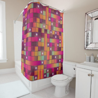 Colorful Abstract Design Shower Curtain