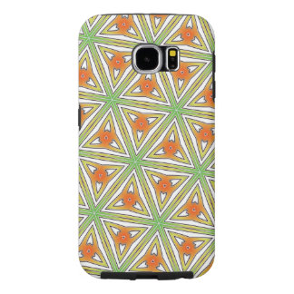 Colorful Abstract in Fresh Green & Vibrant Orange: Samsung Galaxy S6 Cases