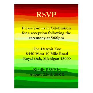 Colorful Abstract Landscape - RSVP Postcard