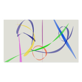 Colorful Abstract Lines Business Card