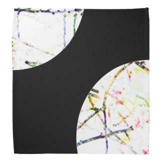 Colorful abstract on black bandana