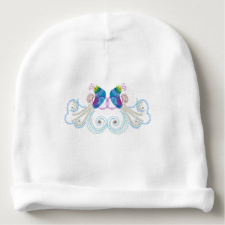 Colorful Abstract Ornate Bird 2 Baby Beanie