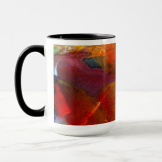 Colorful Abstract Painted Mug Burgundy